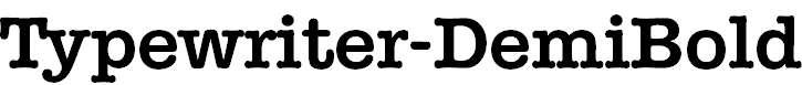 Typewriter-DemiBold