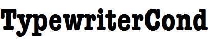 TypewriterCond-Bold