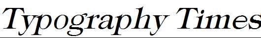 Typography-Times-Italic