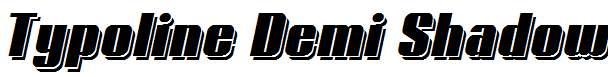 Typoline-Demi-Shadow-Italic