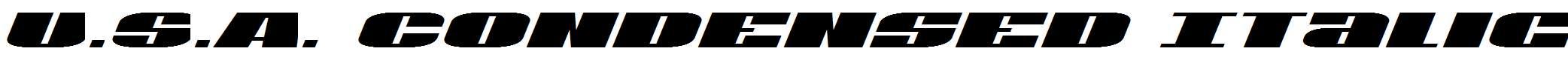 U.S.A.Condensed-Italic