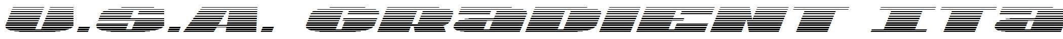 U.S.A.Gradient-Italic