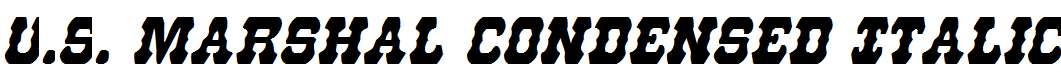 U.S.Marshal-Condensed-Italic