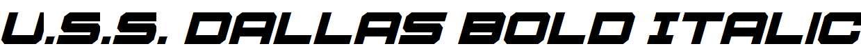 U.S.S-Dallas-Bold-Italic