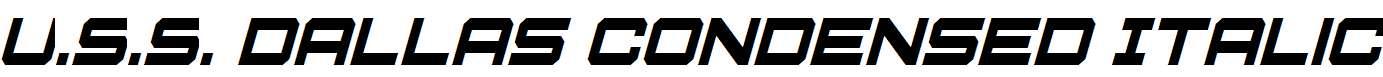 U.S.S-Dallas-Condensed-Italic
