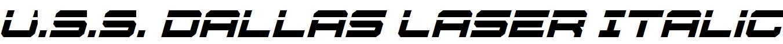U.S.S-Dallas-Laser-Italic