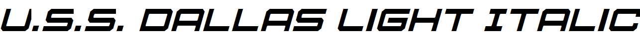 U.S.S-Dallas-Light-Italic