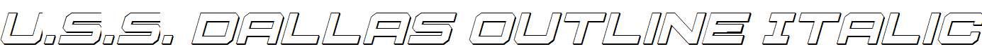 U.S.S-Dallas-Outline-Italic