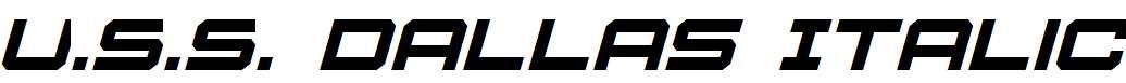 U.S.S.Dallas-Italic
