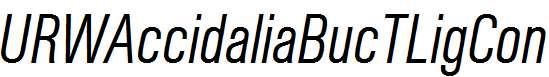 URWAccidaliaBucTLigCon-Italic