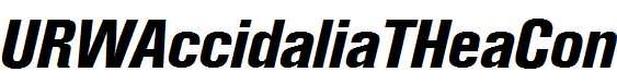 URWAccidaliaTHeaCon-Italic
