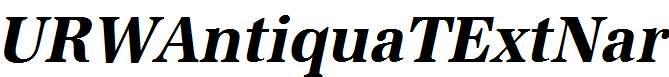 URWAntiquaTExtNar-Bold-Oblique