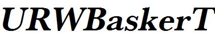 URWBaskerT-Bold-Oblique