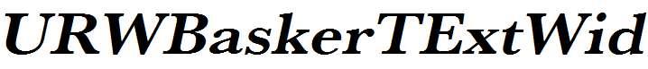 URWBaskerTExtWid-Bold-Oblique