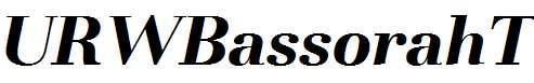 URWBassorahT-Bold-Italic