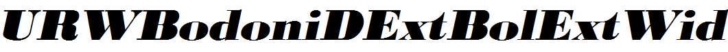 URWBodoniDExtBolExtWid-Oblique