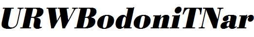 URWBodoniTNar-Bold-Oblique