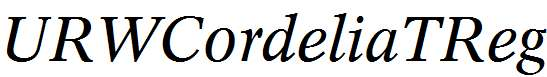 URWCordeliaTReg-Italic
