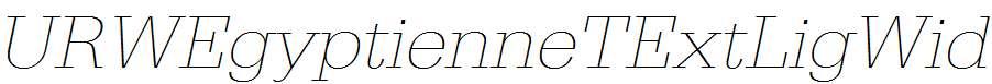 URWEgyptienneTExtLigWid-Oblique
