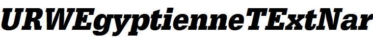 URWEgyptienneTExtNar-Bold-Oblique