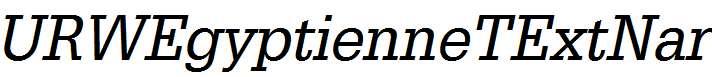 URWEgyptienneTExtNar-Oblique