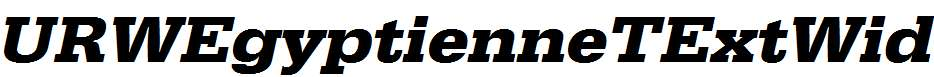 URWEgyptienneTExtWid-Bold-Oblique