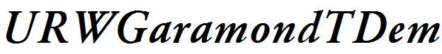 URWGaramondTDem-Italic