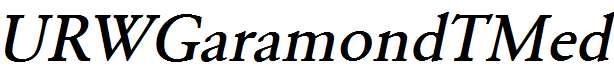 URWGaramondTMed-Oblique