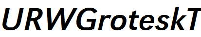 URWGroteskT-Italic