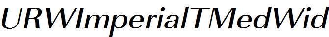 URWImperialTMedWid-Oblique