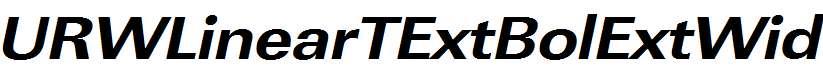 URWLinearTExtBolExtWid-Oblique