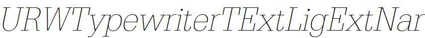 URWTypewriterTExtLigExtNar-Oblique