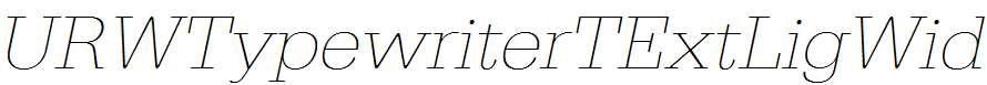 URWTypewriterTExtLigWid-Oblique