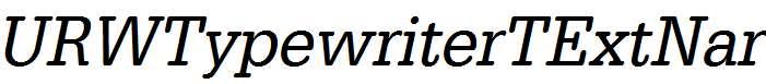 URWTypewriterTExtNar-Oblique