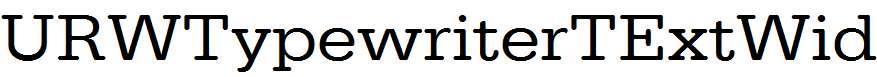 URWTypewriterTExtWid