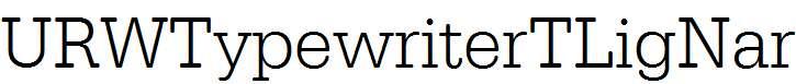 URWTypewriterTLigNar