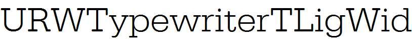 URWTypewriterTLigWid