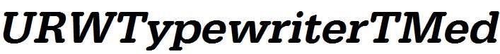 URWTypewriterTMed-Oblique