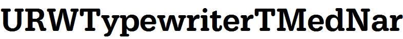 URWTypewriterTMedNar