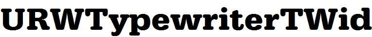 URWTypewriterTWid-Bold