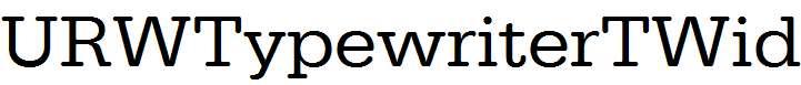 URWTypewriterTWid