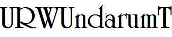 URWUndarumT-Bold