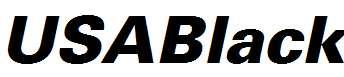 USABlack-Italic