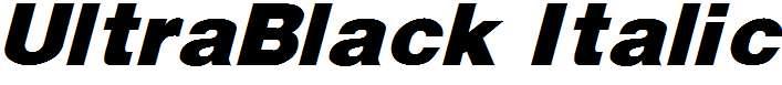 UltraBlack-Italic