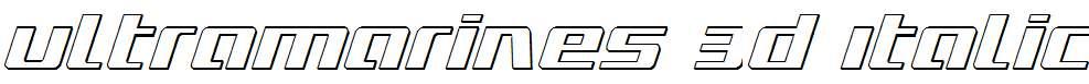 Ultramarines-3D-Italic