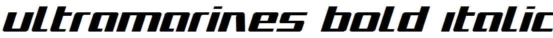 Ultramarines-Bold-Italic