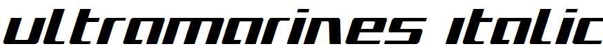 Ultramarines-Italic