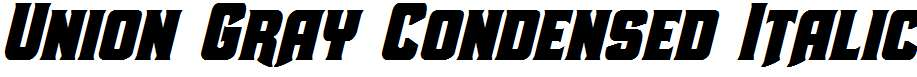 Union-Gray-Condensed-Italic