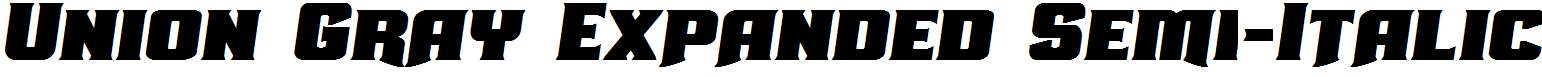 Union-Gray-Expanded-Semi-Italic