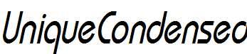 UniqueCondensed-Oblique